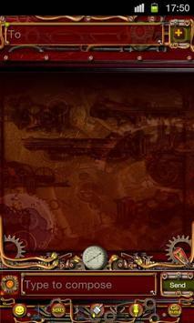 Steampunk GO SMS Theme apk screenshot