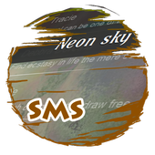 Neon sky S.M.S. Skin icon