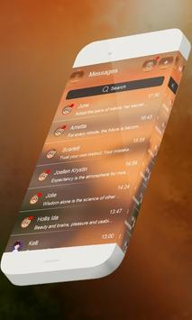 Orange fire S.M.S. Skin apk screenshot