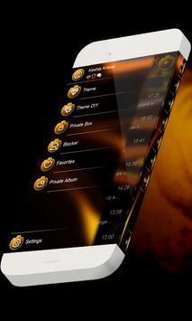 Orange lava S.M.S. Skin apk screenshot