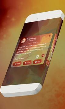 Orange S.M.S. Skin apk screenshot