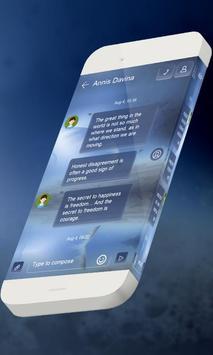 Blue galaxy S.M.S. Skin apk screenshot