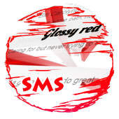Glossy red S.M.S. Skin icon
