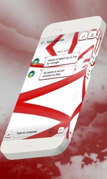 Glossy red S.M.S. Skin apk screenshot