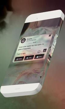 Peach galaxy S.M.S. Skin screenshot 6