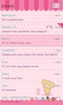GO SMS Pro Pink Sweet theme screenshot 4