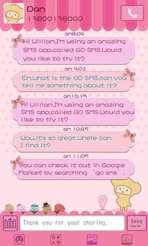 GO SMS Pro Pink Sweet theme poster