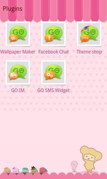 GO SMS Pro Pink Sweet theme screenshot 2