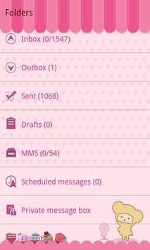 GO SMS Pro Pink Sweet theme screenshot 3