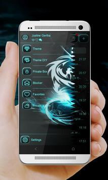 Black and Blue GO SMS screenshot 14