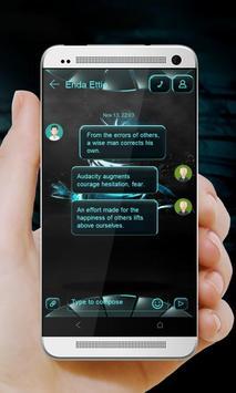 Black and Blue GO SMS screenshot 2