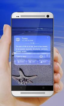 Blue Starfish GO SMS apk screenshot