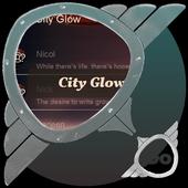 City Glow GO SMS icon