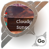 Cloudy Sunset GO SMS icon