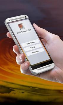Cloudy Sunset GO SMS apk screenshot