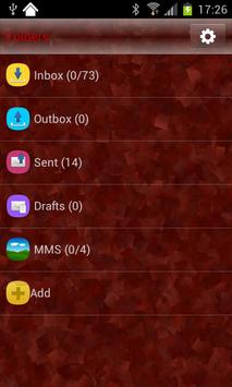 GO SMS Theme Marble RED apk screenshot