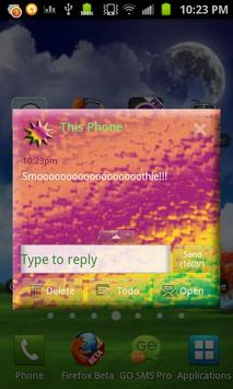 Neon Dream GO SMS Pro Theme apk screenshot