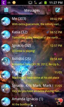 Orion Nebula GO SMS Pro Theme poster