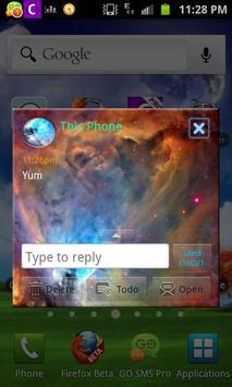 Orion Nebula GO SMS Pro Theme apk screenshot