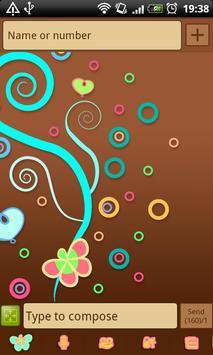GO SMS Pastel Chocolate Theme screenshot 3