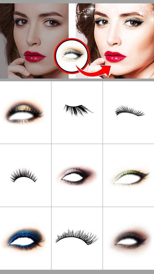 Z Camera Eye Makeup Sticker For Android