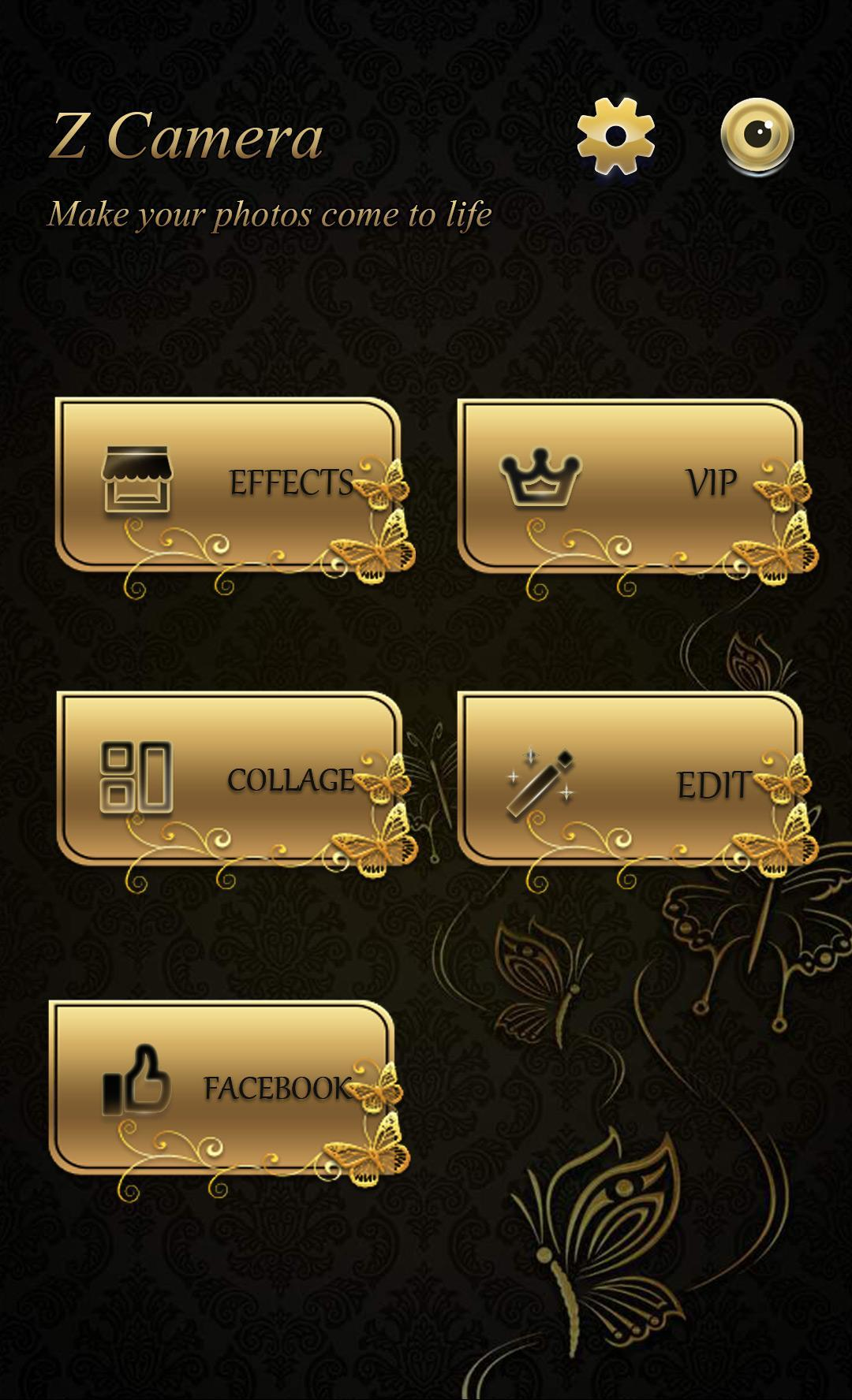 FREE)Z CAMERA GOLD LIFE THEME for Android - APK Download