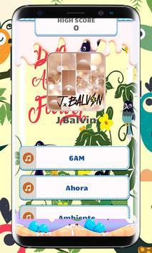 J Balvin Piano Tiles Music poster