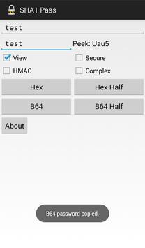 SHA1 Pass screenshot 2