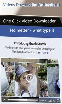 Videos Downloader For Facebook apk screenshot