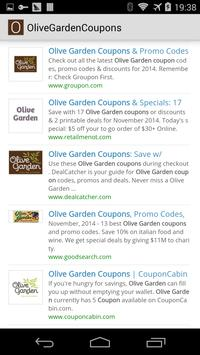 Olive Garden Coupons poster