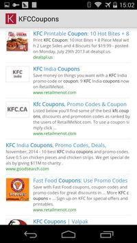 KFC Coupons USA apk screenshot