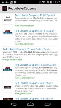 Red Lobster Coupons poster