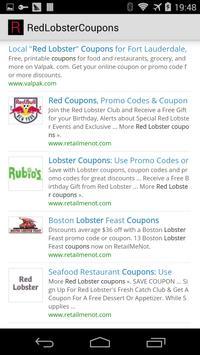 Red Lobster Coupons apk screenshot