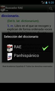 Spanish dictionary (RAE) apk screenshot
