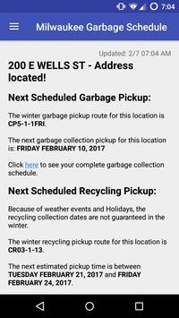 Milwaukee Garbage Schedule screenshot 1