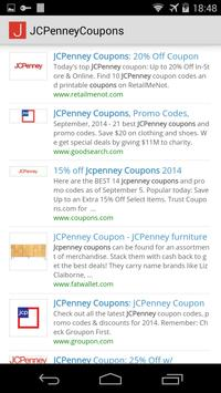 Coupons for JCPenney poster