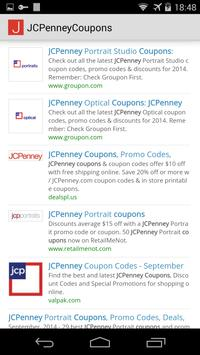 Coupons for JCPenney apk screenshot