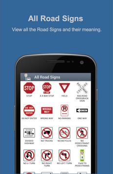 Road Signs & Practise Test USA poster