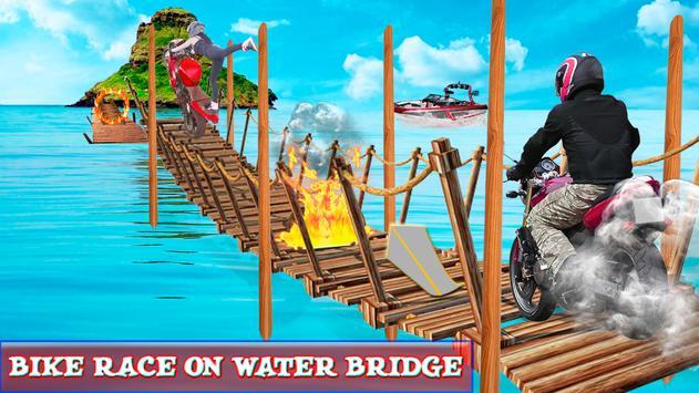Beach Moto Bike Stunt Rider poster