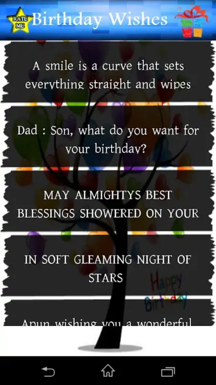 Birthday Wishes Status for Android - APK Download