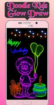 Doodle Kids Glow Draw apk screenshot