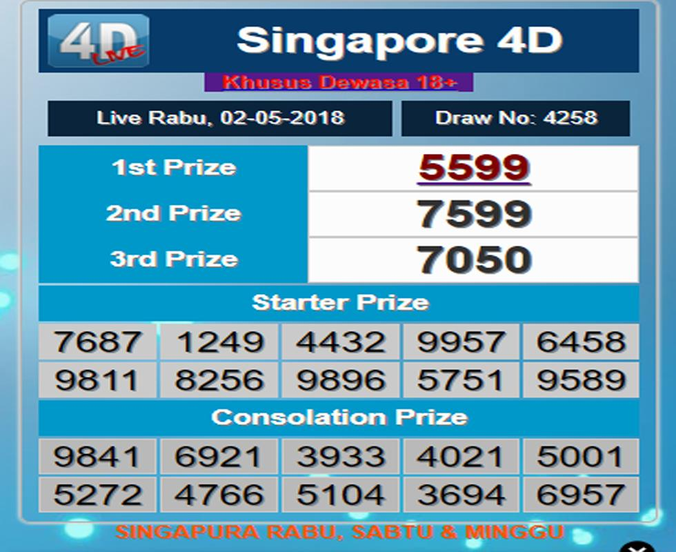 Singapore 4d past result download