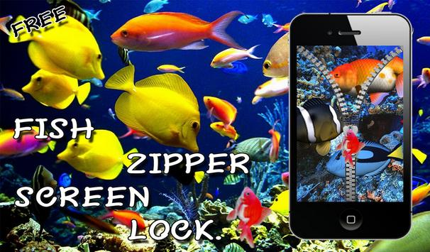 Aquarium Fish Zip Lock Screen apk screenshot