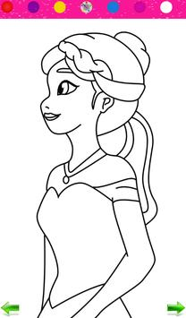 Frozen Princess Coloring poster