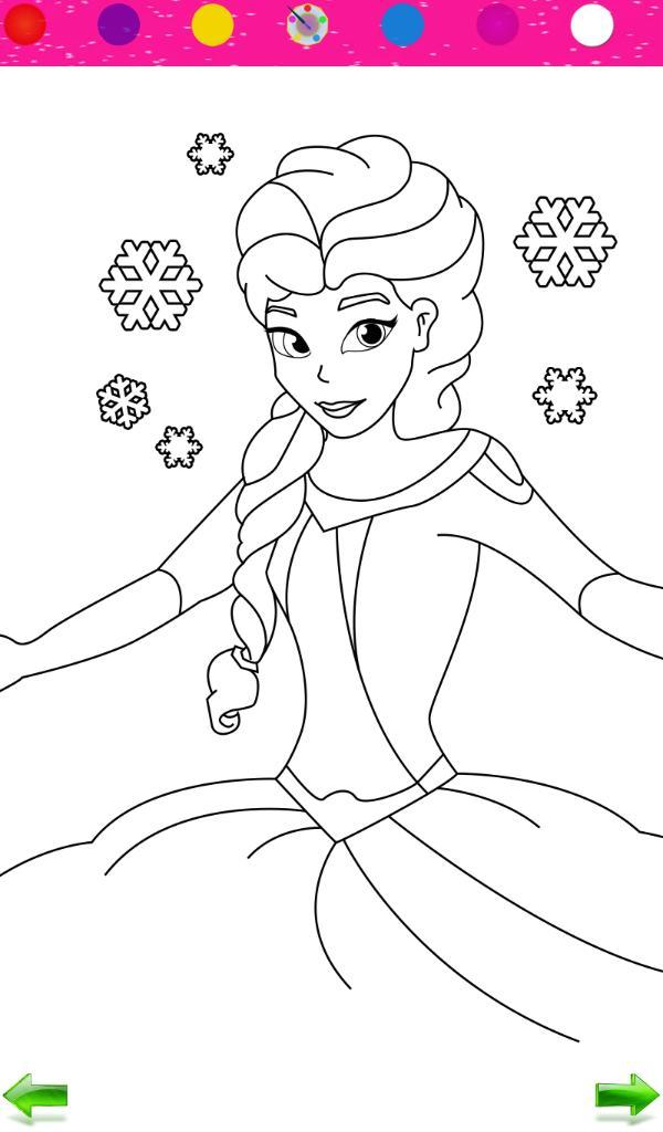 Frozen Colorir Princesas Para Android Apk Baixar