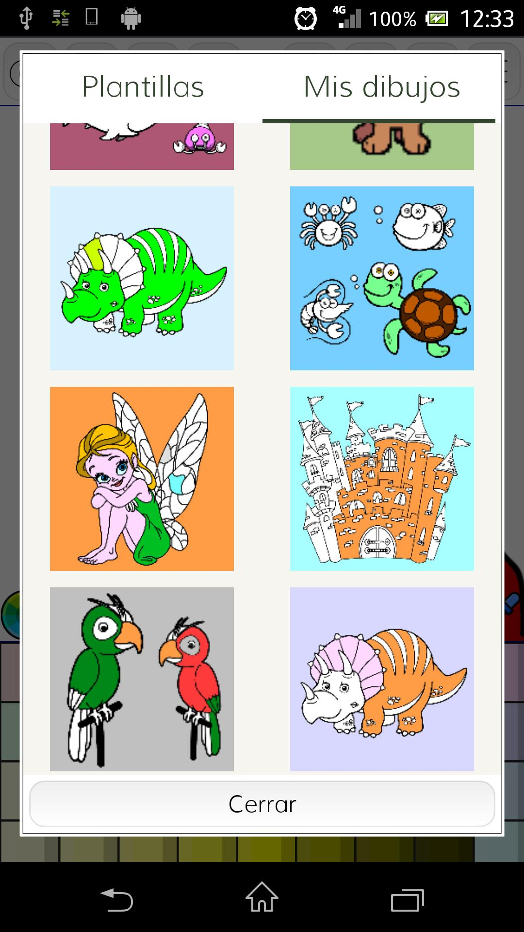 Animals coloring book poster