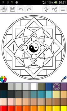Mandalas coloring pages screenshot 15