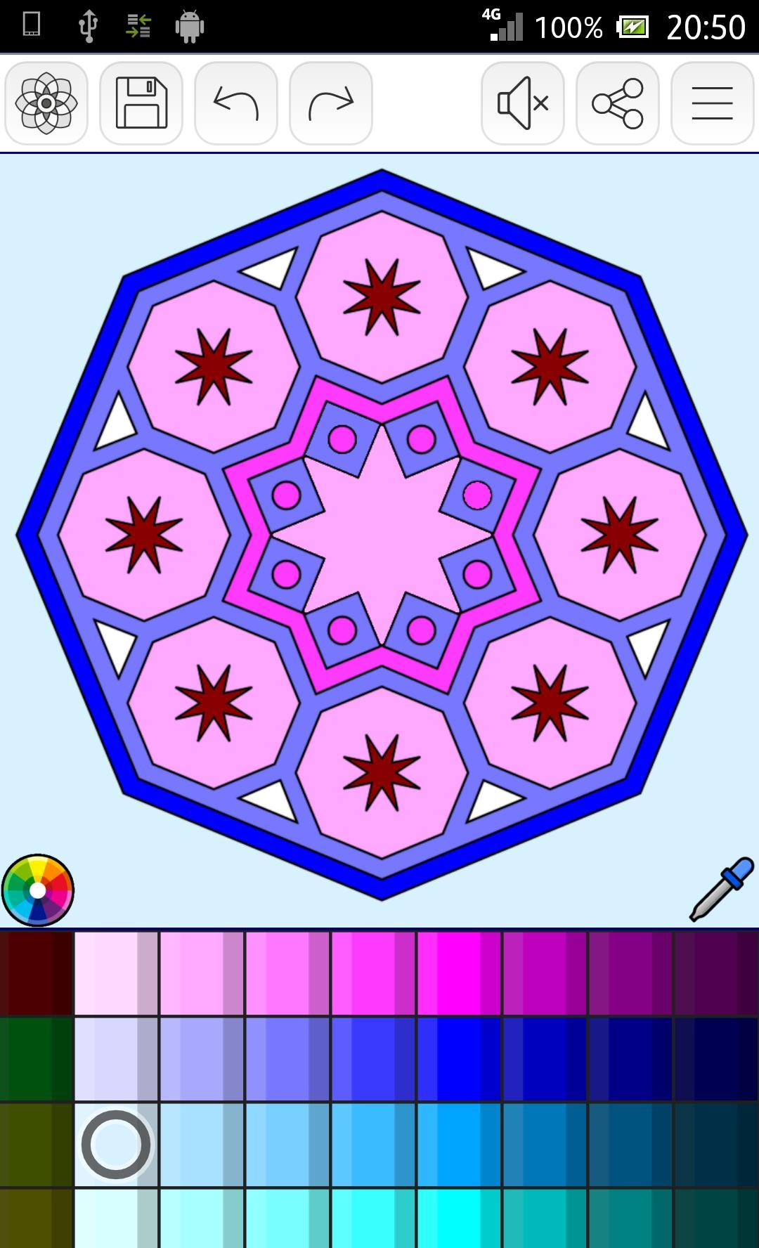Mandalas coloring pages poster