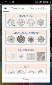 Mandalas Coloring Pages Poster Apk Screenshot