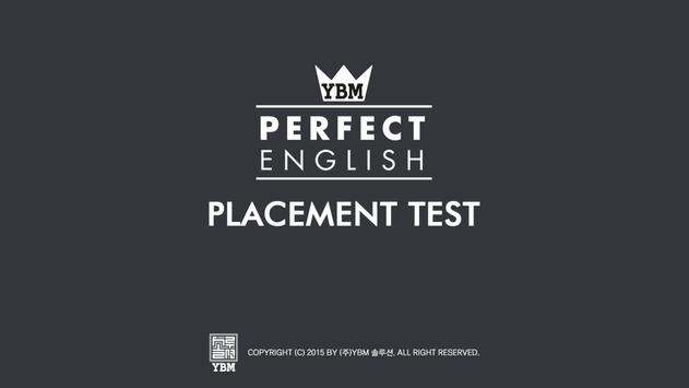 YBM Placement Test poster